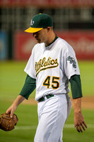 MLB: Cleveland Indians at Oakland Athletics-Game Two